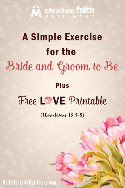 A Simple Exercise for the Bride and Groom to Be + FREE Love Printable