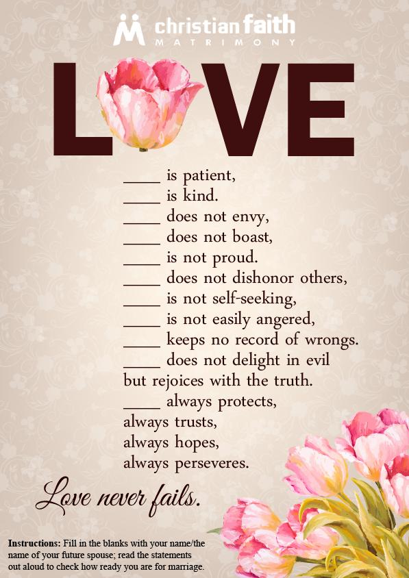 Blank Love Printable